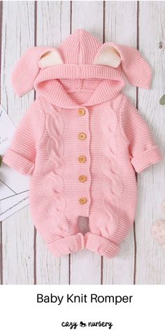 ✤Material: Cotton Blend. Fit comfortable, breathable and warm for newborn infant baby's skin. Harmless fabric.It's the best winter clothes for your children. #cozynursery #baqbyknitromper #babyclothes