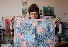 Natural Blush, Textiles, Scarf Design, Silk Painting, Art Plastique, Love Letters, Under The Sea, Textile Design, Diy Clothes