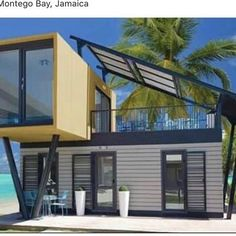 Prefab Container Homes, Container Buildings, Container House Plans, Container House Design, Shipping Container Homes, Shipping Containers, Container Van, Loft House, Tiny House
