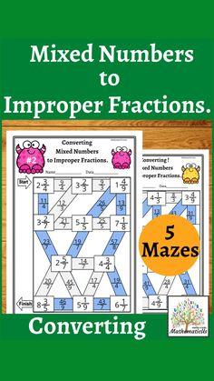Math Games, Math Activities, Fraction Games, Improper Fractions, Classroom Jobs, Primary Maths, Australian Curriculum, Math Workshop, Elementary Math