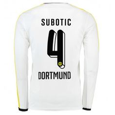 Günstige fußballtrikots BVB Borussia Dortmund 15-16 Subotic Dritte Langarm Trikot