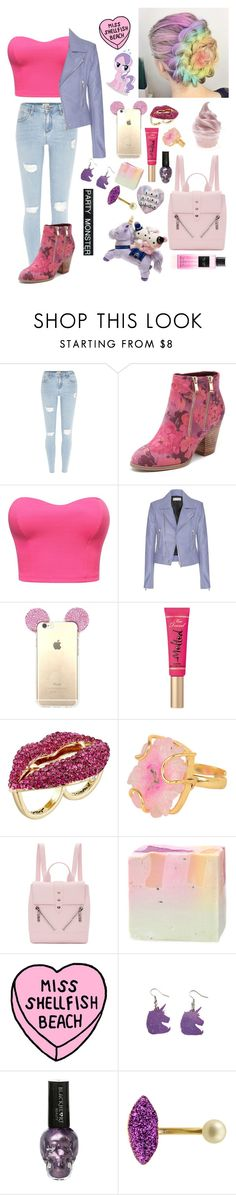 """parttyyy"" by bobglitter ❤ liked on Polyvore featuring River Island, Django & Juliette, Balenciaga, Too Faced Cosmetics, Betsey Johnson, Kenzo, My Little Pony, Delfina Delettrez and Victoria's Secret"