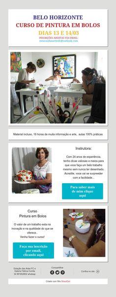 Curso Pintura em Bolos em BH Cake Art, Hand Painted Cakes, Brazil, Art Cakes
