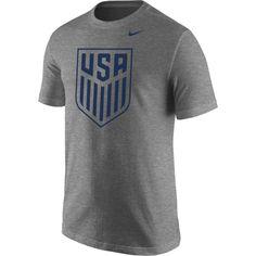 Nike Men s 2018 Fifa World Cup Russia USA Crest Heather Grey Tri-Blend T- fb9652e89