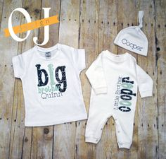 Big brother little brother deer personalized baby boy newborn gift big brother little brother personalized baby boy by ojdesign negle Images