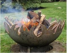 """""""Blaze"""" Fire Pit. Nice little resting spots for your marshmallows on a stick."""