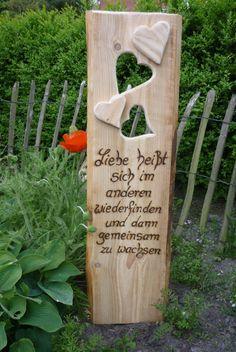 Spruch zur Hochzeit rustikales Holzbrett zu finden bei DaWanda.com .....♥