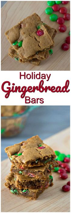 Gingerbread Bars | Easy Gingerbread Bars Recipe | Chewy Bars | Cookie Bars with M&M'S® | Holiday Baking | Christmas Cookies | #ad  #SimplySweetness | @SamsClub  @mmschocolate