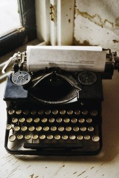 The music of a manual typewriter