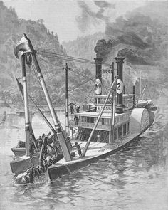 The New Southern View Ezine / Whatever Happened To. - The Steamboat Iron Mountain Canal Barge, Steam Boats, Iron Mountain, Beyond The Sea, Paddle Boat, Old Boats, Red River, Model Ships, Water Crafts