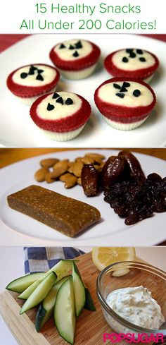 15 satisfying snacks under 200 calories