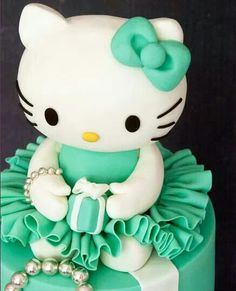 Hello Kitty Tiffany's cake♥
