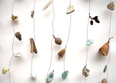 found object and wire curtain by Robin Romain