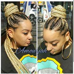 Repost from @amourjah # #protectivestyles #naturalhairdaily #officiallynatural #urbanhairpost #protectivestyles #protectivestyle #braids #braidedstyles #cornrows #feedinbraids #naturalhair #teamnatural #braidedupdo #braidedbun #braidedstyles
