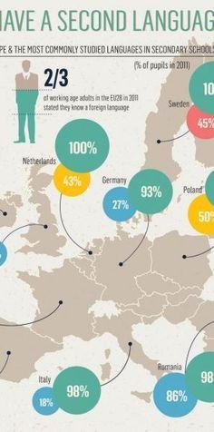 Educational infographic : Educational infographic : Educational infographic : Second Language Infographic