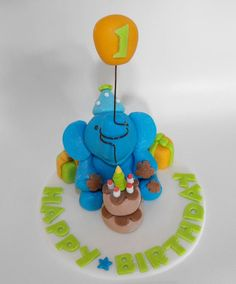Ultimate Elephant Cake Topper Zoo Safari or by TheLilDetails, $22.00