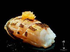 This Baby Barracuda or #kamasu sushi is Chef Hatch's all time favorite sushi.  What's yours?   #hashidasushisg . . . #tgis #sunday #wheretogo #instagram #instafood #sushioftheday #sushiporn #aburi #tasty #oishii #wheretonext #hashidate # #omakase #nigiri by hashidasushisg