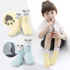 >> Click to Buy << 0 to 4 years old The cat fox Han edition cartoon cotton baby socks Super sprouting baby non-slip floor socks #Affiliate