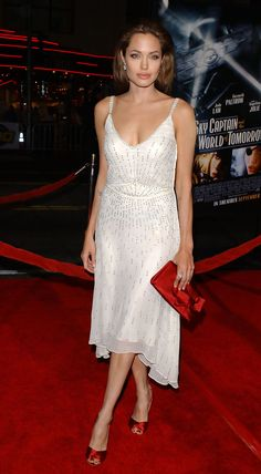 Angelina Jolie - Celebs in White Dresses