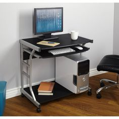 Small Compact Mobile Portable Student Computer Berkeley Desk with Wheels Only 10 In Stock Order Today! Product Description: Turn any room or area into your personal office with the Berkeley Mobile Com