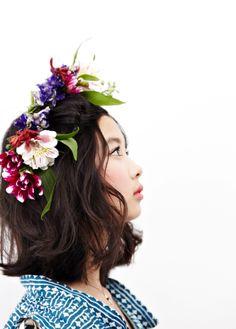 #weddingstyle #weddings #floralheaddress repinned by www.hopeandgrace.co.uk