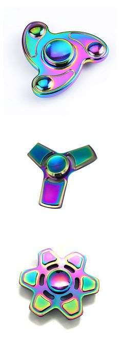 Mesmerizing metal rainbow stress reliever spinners. Affordable at one click!