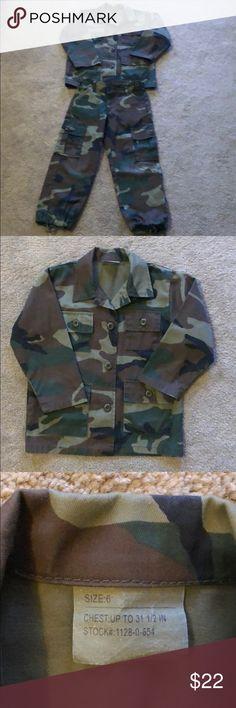 Digital Camo Army Ranger Costume Uniform Child Boys  General Military Halloween