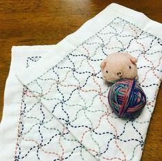 (´Д`)ハァ…やっとできた❗️ 久しぶりの刺し子布巾完成です。 #ホビーラホビーレ #刺し子 #刺し子布巾 #ちどりⅡ @aki_poj さんの糸で 落ち着いた感じですごく可愛い☺️💕