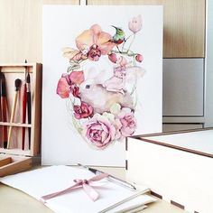 ✨ закончила работу. Видите вооон ту маленькую стопочку обрезков от бумаги? Хочу успеть сделать открытки. Хочу хочу хочу! да! И спасибо садик, что ты есть! #watercolorpainting#watercolour#watercolor#waterblog#art#artist#aquarelle#art_we_inspire#arts_help#art_gallery#drawing#painting#flowers#botanical#botanicalart#rabbit#misha_illustration#illustration#animals#topcreator#artblog#акварель#иллюстрация