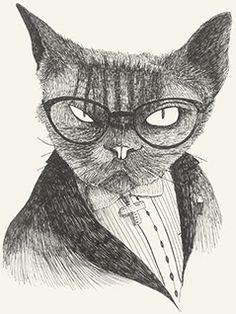 Heer Cat  glasses dark mystery bad evil aristocratic by Leo Bellei https://flic.kr/p/Dvuq5j |