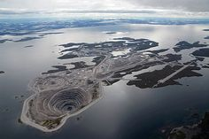 Diavik Diamond Mine in Summer