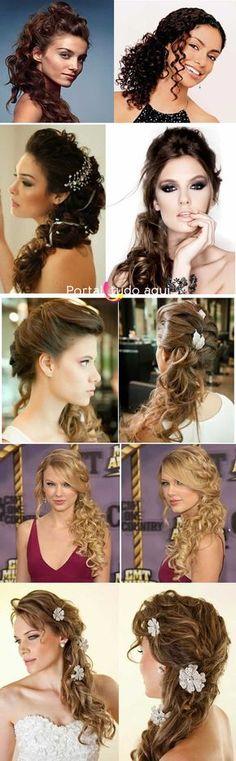 Penteados para cabelo cacheado, encaracolado ou crespo -Portal Tudo Aqui