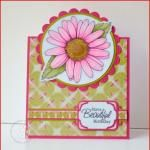 Freebie, Copics and a Contest: Daisy Digi Stamp