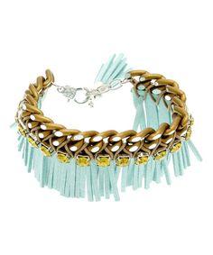 Look at this #zulilyfind! Blue Squaw Bracelet Made With SWAROVSKI ELEMENTS #zulilyfinds