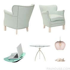 Home Decor With Nailhead Accent Chair, Accent Chair, Space Saving Desk And Stanley Furniture Dining Table