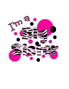 I'm A Big Sister Digital File Great for by CelebrationzbyMel, $2.95