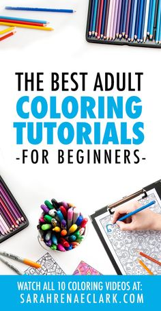 These adult coloring tutorials will help beginner colorists learn colored pencil techniques, how to color with markers, and other beginner coloring tips - pencil-drawings Coloring Tips, Adult Coloring, Coloring Books, Coloring Stuff, Free Coloring, Coloring Sheets, Colored Pencil Tutorial, Colored Pencil Techniques, Christmas Coloring Pages