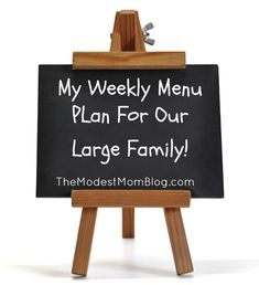 My Weekly Menu Plan For Our Large Family.  Want to try the rice with some enchiladas.