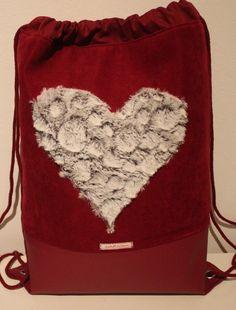 Beutel / Rucksack / Tasche  **Herz2** Valentinstag von nahtSachen auf DaWanda.com