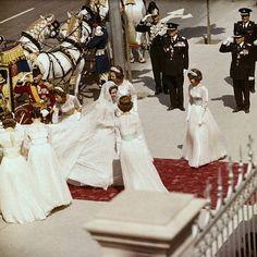 salamandra75: Princess Sophia of Greece on her wedding day to Prince Juan Carlos of Spain, May 14, 1962