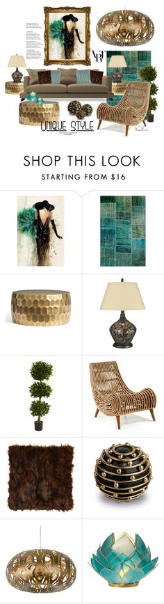 """""""#242"""" by moondawn ❤ liked on Polyvore featuring interior, interiors, interior design, home, home decor, interior decorating, Leftbank Art, Pottery Barn, Dale Tiffany and Nearly Natural"""