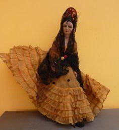 Vintage Spanish Flamenco Boudoir Doll Lenci | eBay