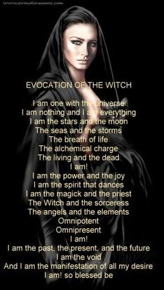 Evocation of the witch- wiccan | Wiccan/Pagen Comments And Graphics ...
