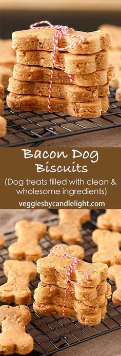 Dog Agility Bacon Dog Biscuits - My favorite dog treats that are filled with flavor and wholesome ingredients. - Bacon Dog Biscuits - Our favorite dog treats that are filled with flavor and wholesome ingredients. Your dogs will love them, guaranteed Homemade Dog Cookies, Homemade Dog Food, Homemade Dog Biscuits, Diy Dog Treats, Healthy Dog Treats, Bacon Dog Treats, Puppy Treats, Dog Biscuit Recipes, Dog Food Recipes
