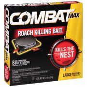 Combat® Max™ Large Roaches Roach Killing Bait Stations 8 ct Box Image 1 of 6