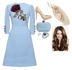 """""""Attending the Day Two of the Royal Ascot"""" by fashion-royalty ❤ liked on Polyvore featuring Philip Treacy, Dolce&Gabbana, L.K.Bennett, Bottega Veneta, Tiffany & Co. and Blue Nile"""