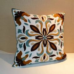 summer style cotton car covers Embroidery pillow cover cushion cussion decoration cushions home decor decorative throw pillows 0 Floral Embroidery Patterns, Hand Embroidery, Embroidery Designs, Throw Pillow Cases, Throw Pillows, Cushion Pillow, Couch Pillows, Cushion Covers, Pillow Covers