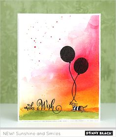 jill10 Penny Black Cards, Penny Black Stamps, Dog Birthday, Birthday Cards, Animal Cards, Birthday Balloons, Creative Cards, Kids Cards, Cute Cards