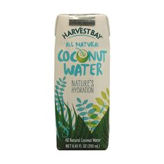 Harvest Bay Coconut Water Original 8.5 fl oz ($1.11) ❤ liked on Polyvore featuring beauty products, skincare, face care, food and food and drink