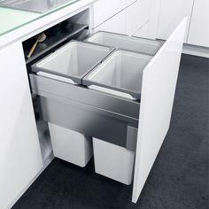 Pull Out Waste Bin, For Cabinet Width 600 mm, Vauth-Sagel VS ENVI Space XX - Häfele U.K. Shop